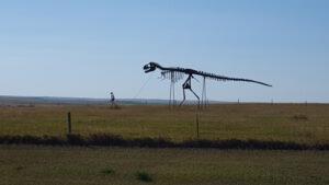 Skeleton Man Walking Skeleton Dinosaur