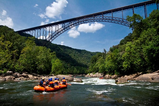 New River Gorge Bridge river raft